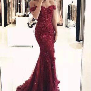 Prom dress evening gown off the shoulder 2-4